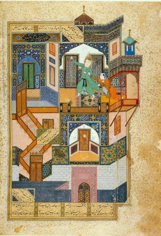 The Seduction of Yusuf from the poet Sa'adi's Bustan (The Fruit Orchard); Bihza. Produced for Timurid prince Husayn Bayqara