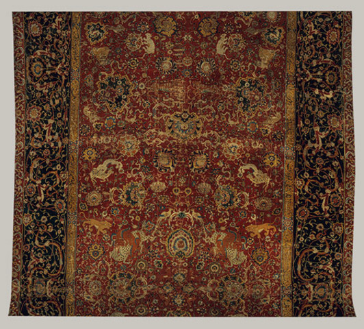 The Emperor's carpet, Iran, silk (warp and weft)