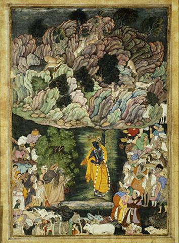 Detached page from Harivamsa (Legend of Hari Krishna)