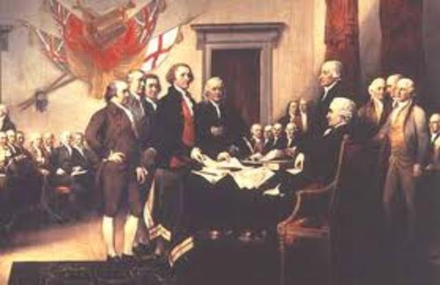 Declaración de Independencia de Estados Unidos.