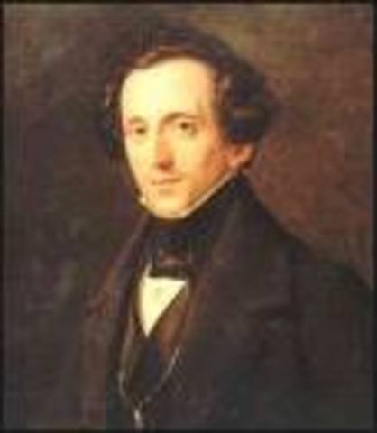 The birth of Felix Mendelssohn