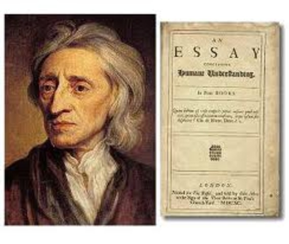 Locke writes his first draft of the Essay Concerning Human Understanding.