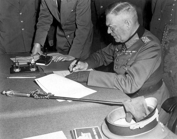 Duitse overgave wordt getekend
