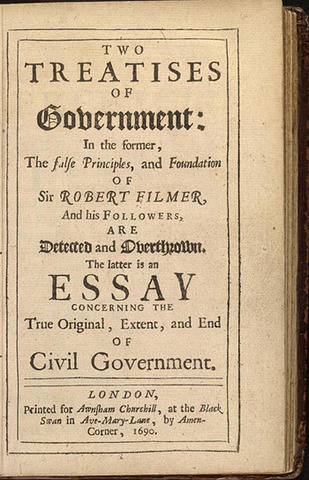 Two Treatises of Civil Government is published.