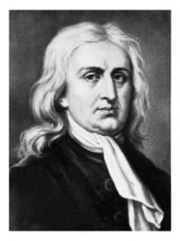 Locke meets Sir Isaac Newton.