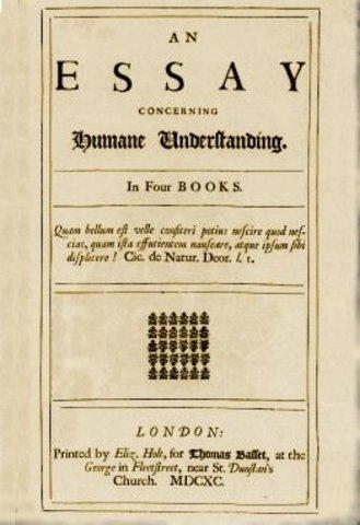 Locke published famous essay.
