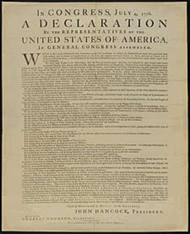 Locke's ideas used in The Declaration of Independence