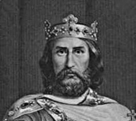 Pope crowns Charlemagne emperor