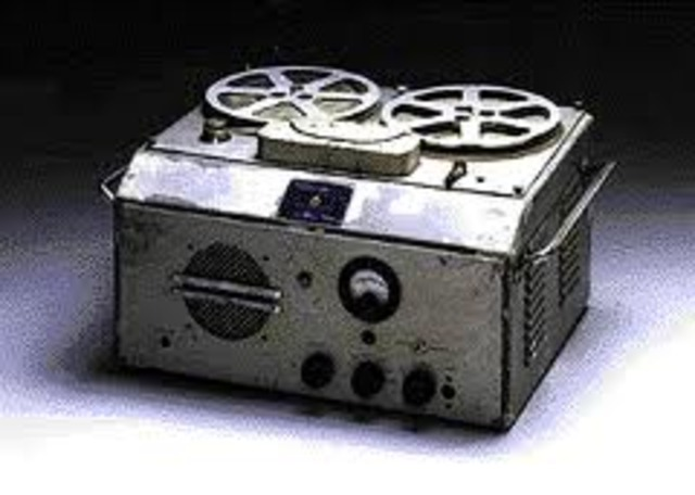 First Tape Recorder