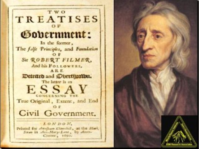Locke's book ,Two Treaties of Civil Government is published