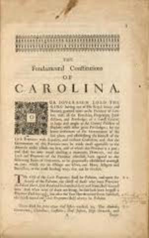 America Locke was asked to write the Fundamental Constitution of Carolina