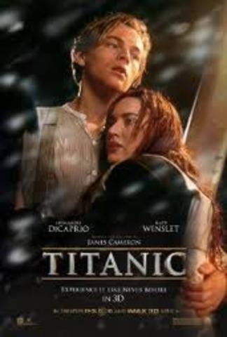 Titanic  segunda pelicula mas taquillera en la historia