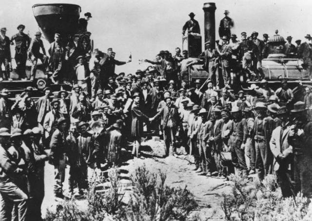 Finishing of the First Transcontinental Railroad