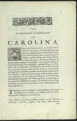 Loce is asked to write the Fundamental Constitution of Carolina.