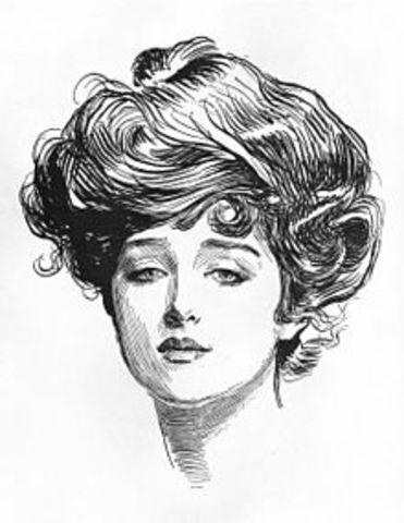 Gibson Girl Created by Charles Dana Gibson (Illustrator)