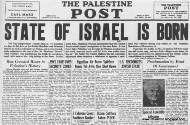 Israel declares Independence