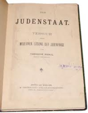 The Jewish State' is published; Zionism grows