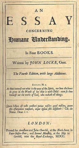 "Locke's ""Essay Concerning Human Understanding"" is published"