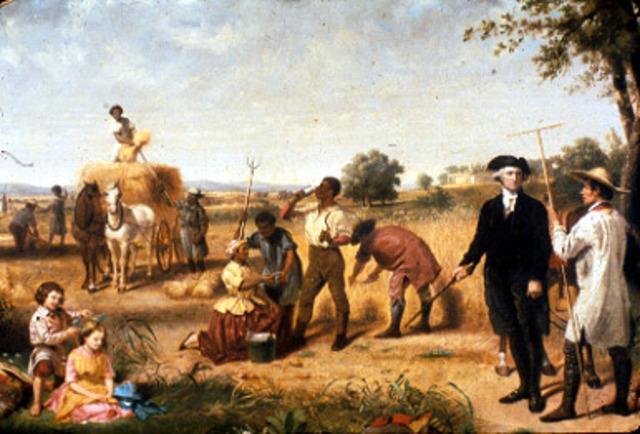 George Washington lived as a farmer!