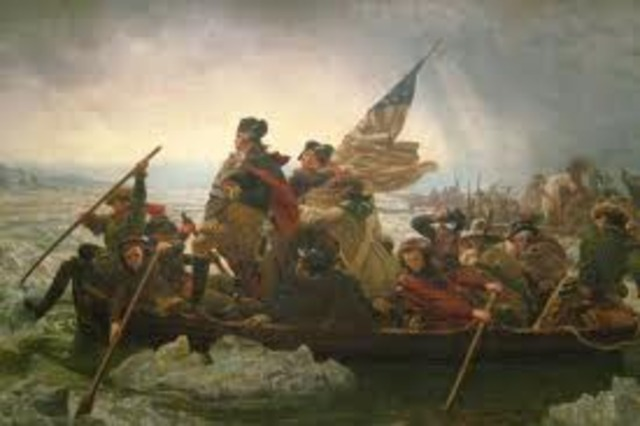 Crossed the Delaware River from Pennsylvania to New Jersey to attack the British.