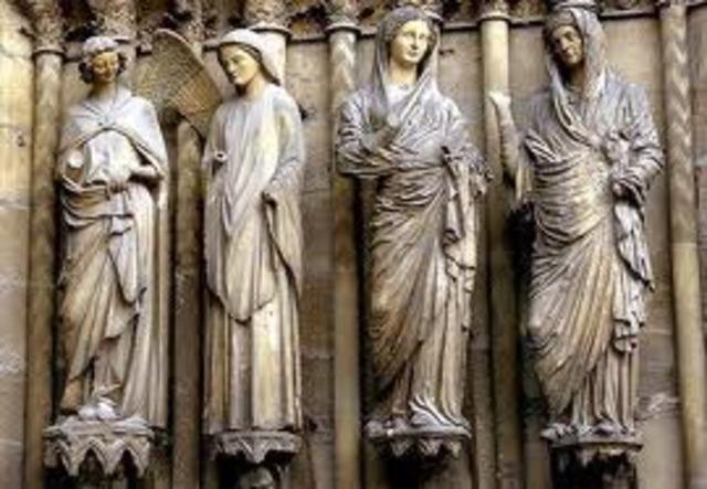 Visitation and Annunciation, Rheims Cathedral