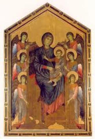 Cimabue, Madonna Enthroned