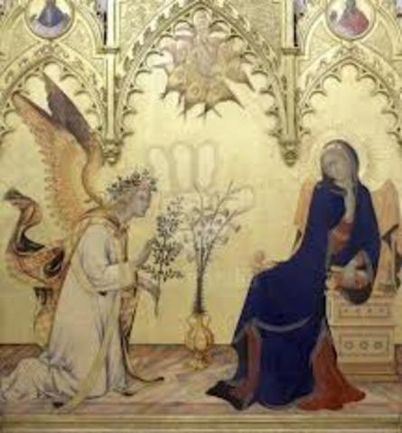 Simone Martini, the Annunciation
