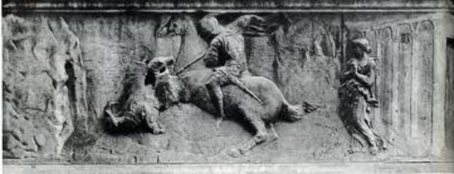 Donatello, St George and the Dragon, Orsanmichele