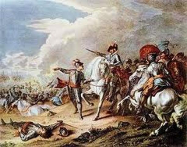 English Civil War: The war began.