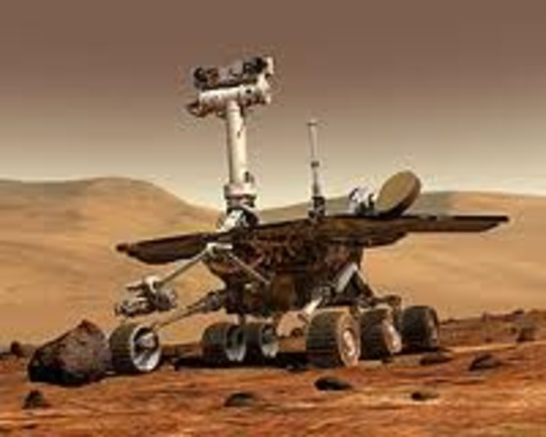 Spirit Lands on Mars