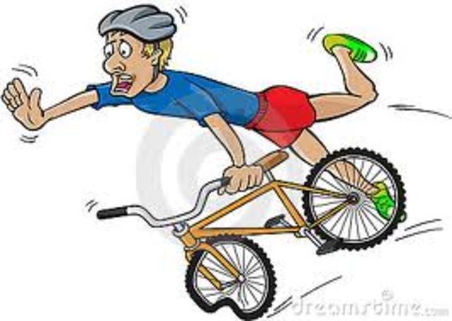 first time failing riding a bike