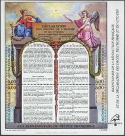 Declaración de los Derechos del Hombre.