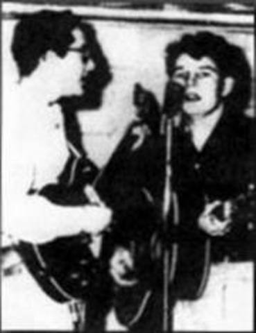 """Buddy Holly and Bob Montgomery form the Duo """"Buddy and Bob"""""""