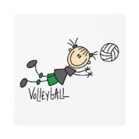 First time playing volley-ball