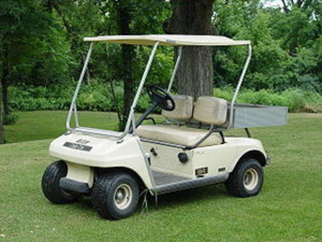 Drove a golf cart.