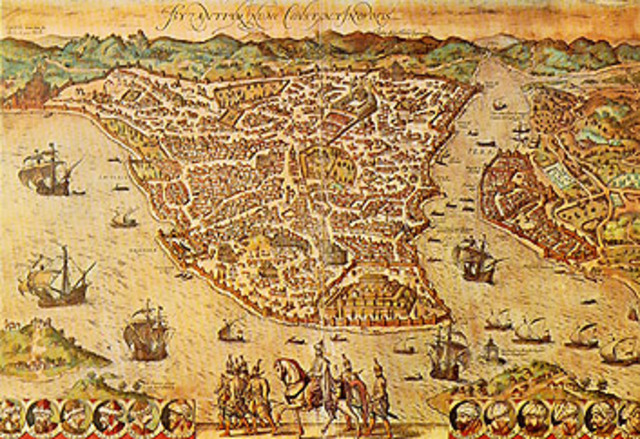 Constantine establishes capital at Constantinople