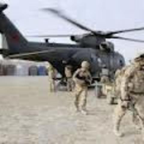 As tropas do Reino Unido