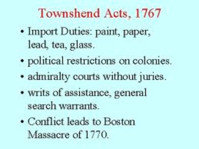 Townshend act 1767-
