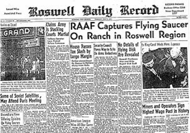 Roswell Incident Ocurrs