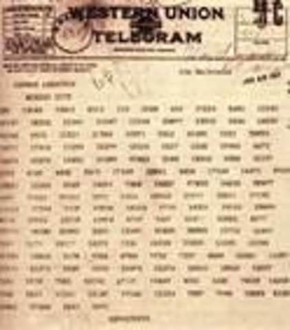 Zimmerman Telegram Intercepted by Britain