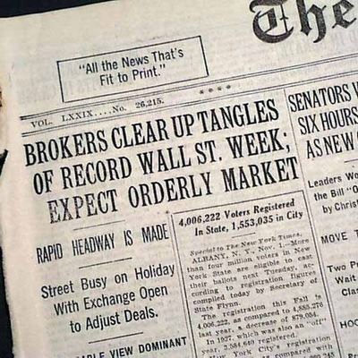 The Stock Market Crash of 1929 and the Great Depression timeline