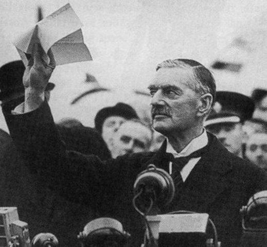 British Prime Minister Chamberlain Appeases Adolf Hitler