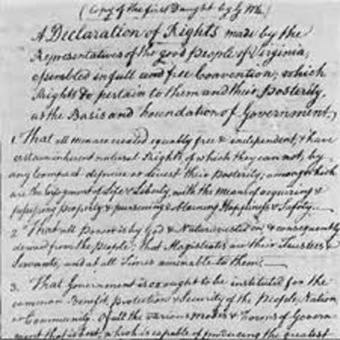 Declaration of Rights draft