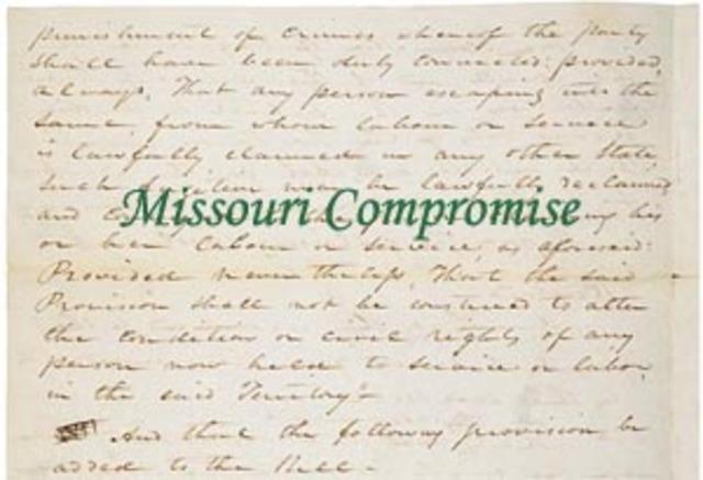 The Missouri Compromise