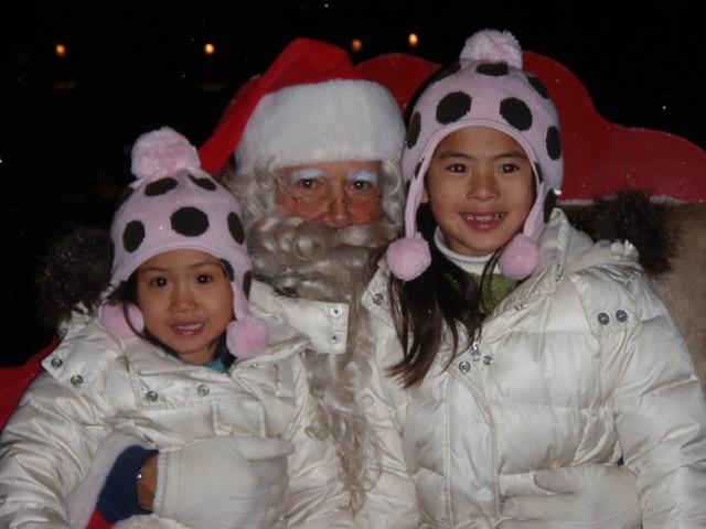 Christmas Luminaria visit wtih Santa