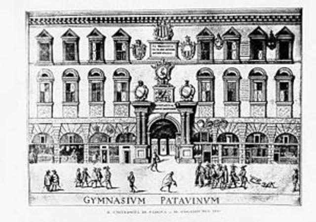 Copernicus starts studying in the University of Padua