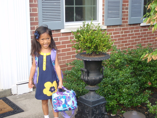 Elyse's First Day of Kindergarden