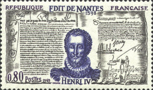 Edict of Nantes is signed