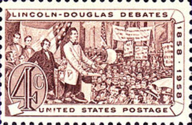 Lincoln-Douglas Debates begin