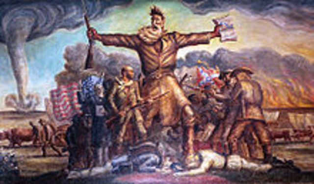 John Brown raids Federal Armory at Harper's Ferry - attempts to incite a slave rebellion